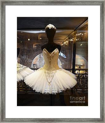Paris Opera House Ballerina Costumes - Paris Opera Garnier Ballet Art - Ballerina Fashion Tutu Art Framed Print by Kathy Fornal