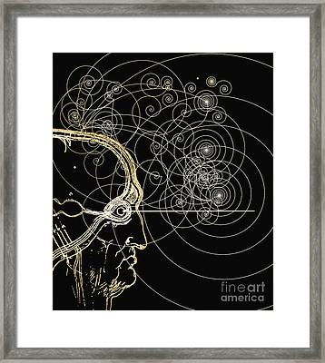 Particle Tracks And Head Framed Print by Mehau Kulyk