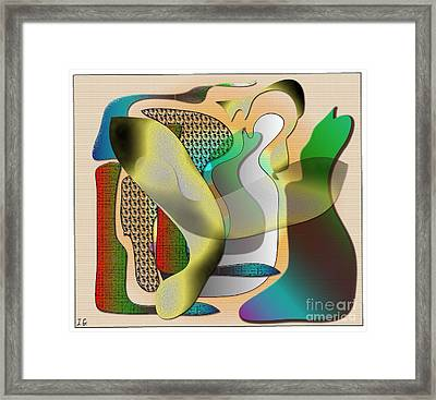 Patches Framed Print by Iris Gelbart