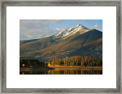 Peak One Framed Print by Bob Berwyn