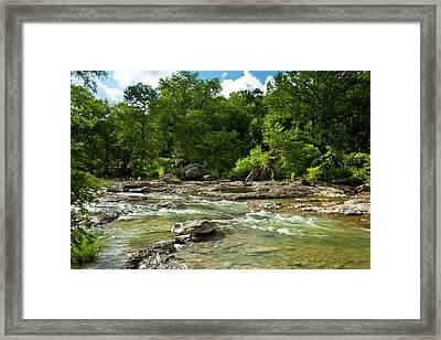 Pedenales River On A Fine Summer Morning Framed Print by Mark Weaver