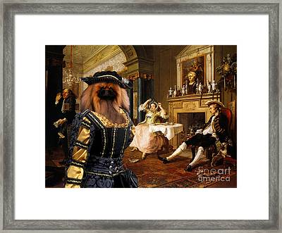 Pekingese Art Canvas Print Framed Print by Sandra Sij
