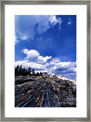 Pemaquid Point Lighthouse Framed Print by Skip Willits