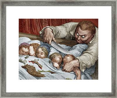 Perrault Tom Thumb, 1867 Framed Print by Granger