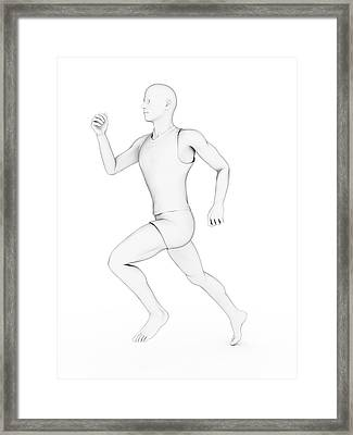 Person Jogging Framed Print by Sebastian Kaulitzki