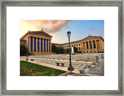 Philadelphia Museum Of Art Framed Print by Olivier Le Queinec