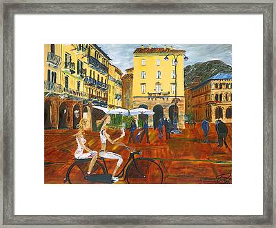 Piazza De Como Framed Print by Gregory Allen Page