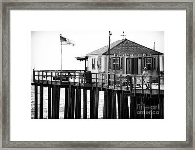 Pier View Framed Print by John Rizzuto