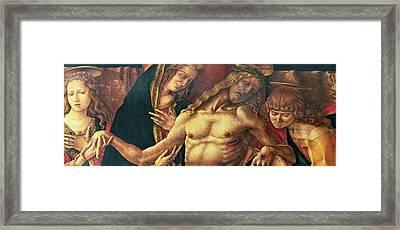 Pieta Framed Print by Carlo Crivelli