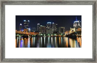 Pittsburgh Panorama Framed Print by Frozen in Time Fine Art Photography