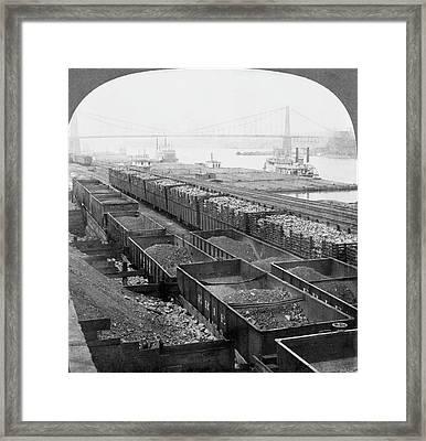 Pittsburgh Steel Mill Framed Print by Granger