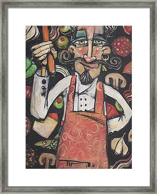 Pizza Chef Framed Print by Tim Nyberg
