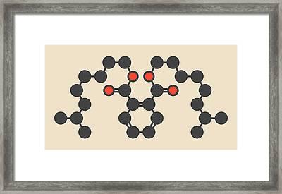 Plasticizer Molecule Framed Print by Molekuul