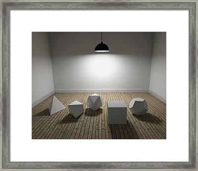 Platonic Solids Framed Print by Robert Brook