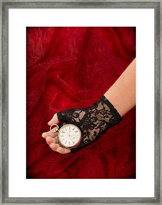 Pocket Watch Framed Print by Amanda Elwell