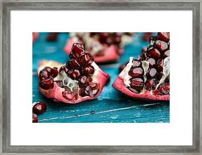 Pomegranate Framed Print by Nailia Schwarz