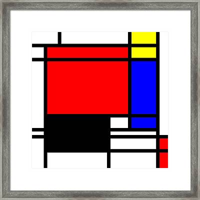 Pop-art Mondriaan Framed Print by Toppart Sweden