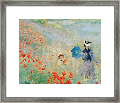 Poppies At Argenteuil Framed Print by Claude Monet