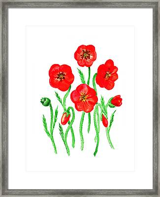 Poppies Framed Print by Irina Sztukowski