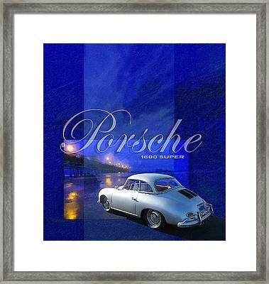 Porsche 1600 Super Framed Print by Ron Regalado