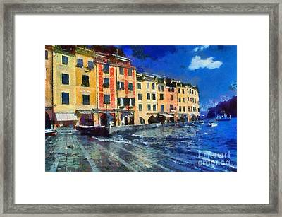 Portofino In Italy Framed Print by George Atsametakis