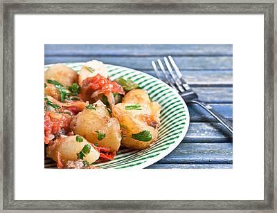 Potato Dish Framed Print by Tom Gowanlock