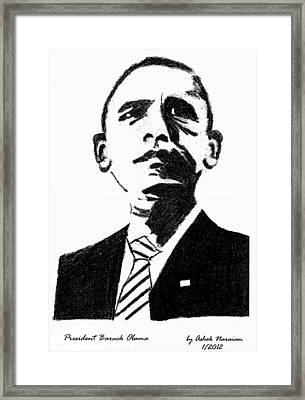 President Barack Obama Framed Print by Ashok Naraian