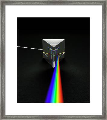 Prism And Spectrum Framed Print by David Parker