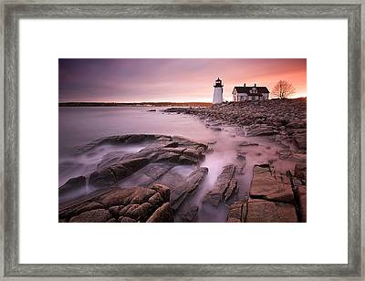 Prospect Harbor Light Framed Print by Patrick Downey
