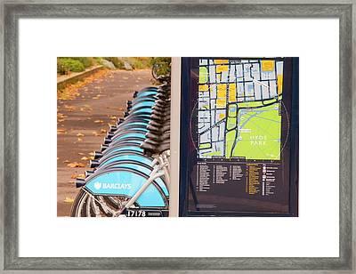 Public Bike Hire Scheme Framed Print by Ashley Cooper