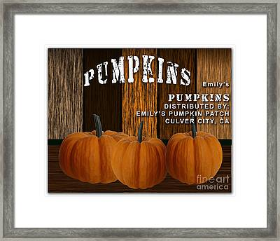 Pumpkin Patch Framed Print by Marvin Blaine