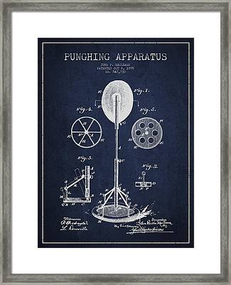 Punching Apparatus Patent Drawing From1895 Framed Print by Aged Pixel