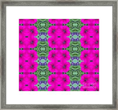 Purple Passion Power Framed Print by Annette Allman