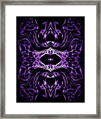 Purple Series 3 Framed Print by J D Owen