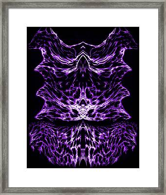 Purple Series 6 Framed Print by J D Owen
