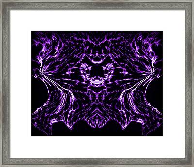 Purple Series 8 Framed Print by J D Owen
