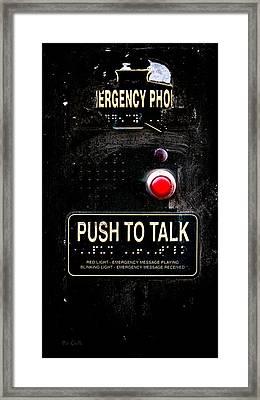 Push To Talk Framed Print by Bob Orsillo