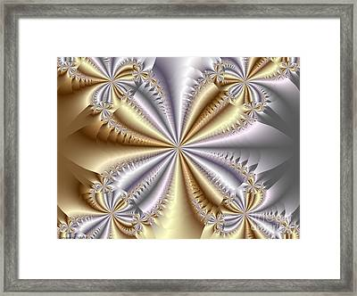 Quadrant Framed Print by TJ Art