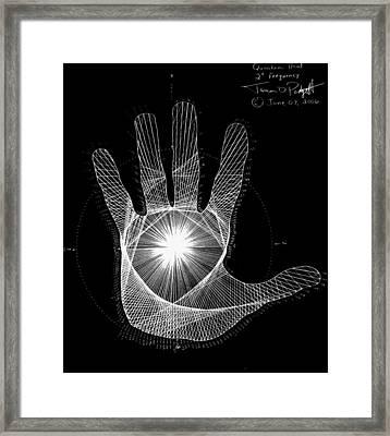 Quantum Hand Through My Eyes Framed Print by Jason Padgett