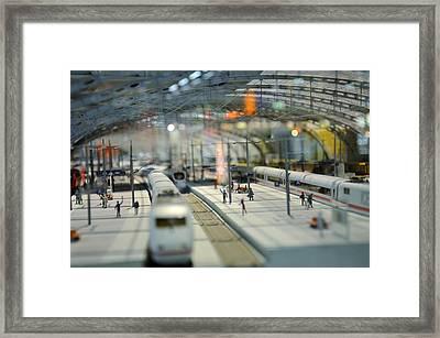 Railway Station Framed Print by Gynt