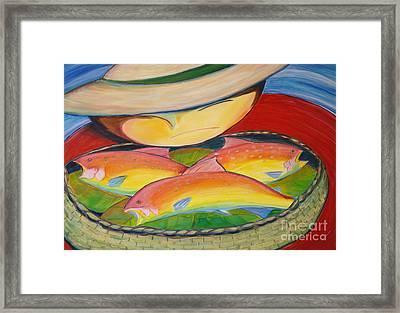 Rainbow Fish Framed Print by Teresa Hutto