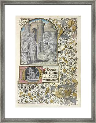 Raising Of Lazarus Framed Print by British Library