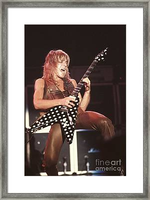 Randy Rhoads Framed Print by Front Row  Photographs