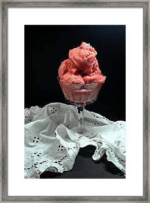 Raspberry Sherbet Framed Print by Diana Angstadt