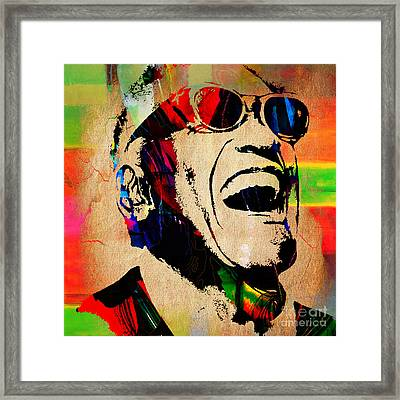 Ray Charles Collection Framed Print by Marvin Blaine