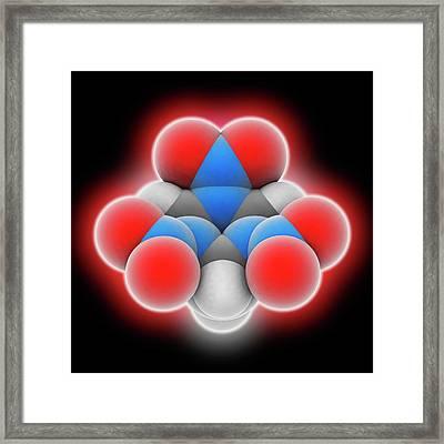 Rdx Explosive Molecule Framed Print by Laguna Design