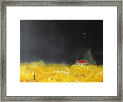 Red Barn Framed Print by Andy Davis