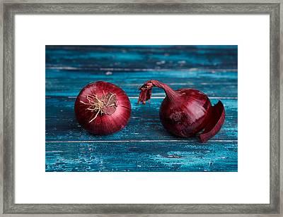 Red Onions Framed Print by Nailia Schwarz