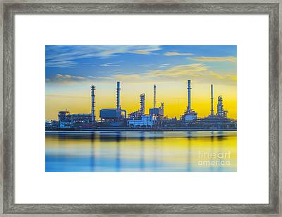 Refinery Industrial Plant Framed Print by Anek Suwannaphoom
