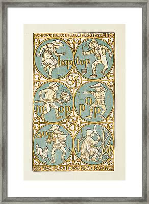 Rhyming Words Ending In The Letter P Framed Print by British Library